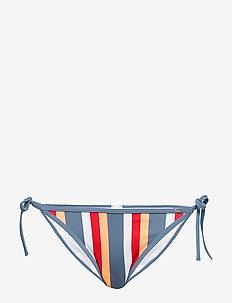 L. brasiliano - bikini bottoms - bluered stripe
