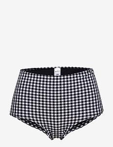 L. high-waist panty - bikini bottoms - black vichy