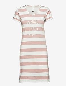 L. sleepshirt s/slv - IVORY STRIPE