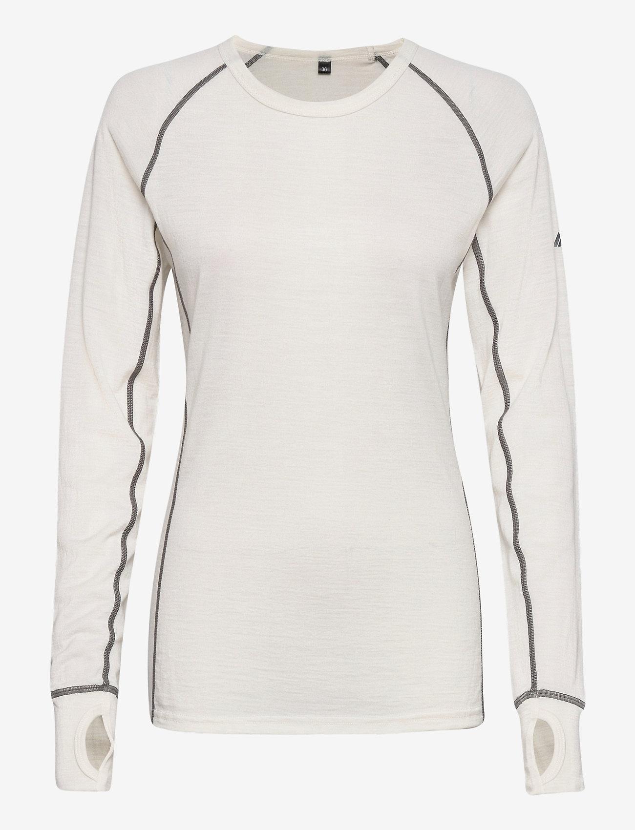 Skogstad - Nordstølen merino wool sweater - thermo ondershirts - vanilla ice - 0