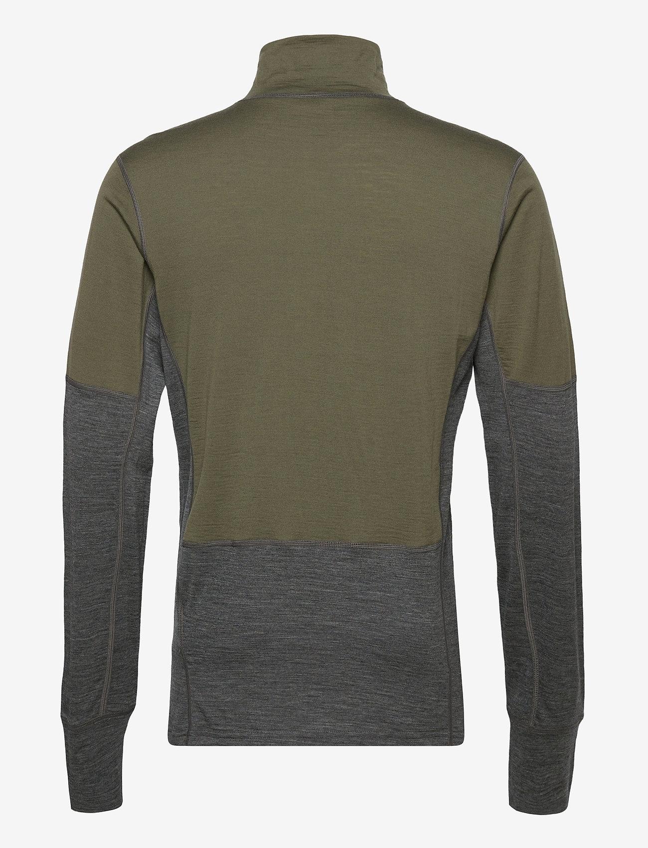 Skogstad - Røstene merino wool half-zip - termo undertrøje - four leaf - 1