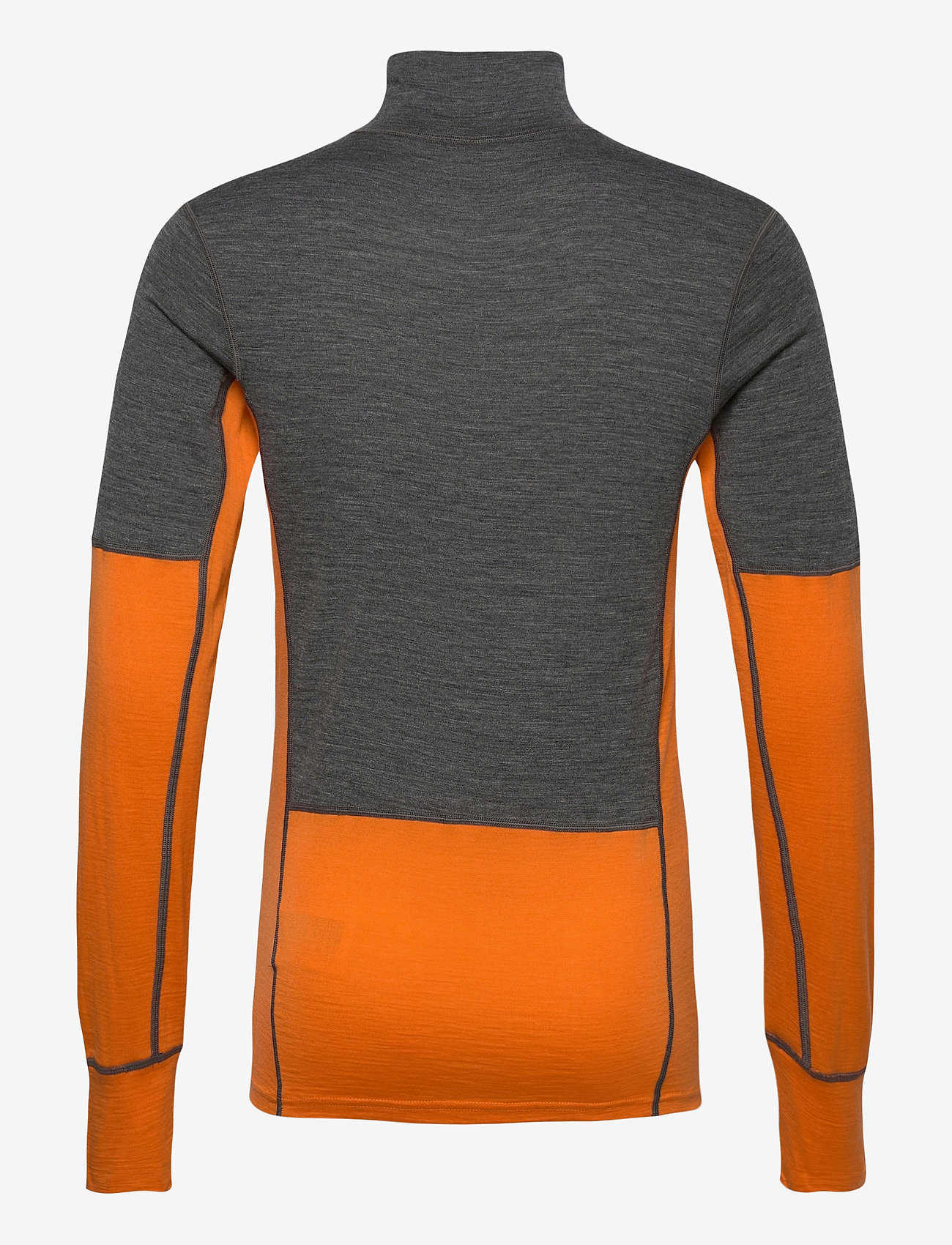 Skogstad - Røstene merino wool half-zip - funktionsunterwäsche - oberteile - jaffa orange - 1