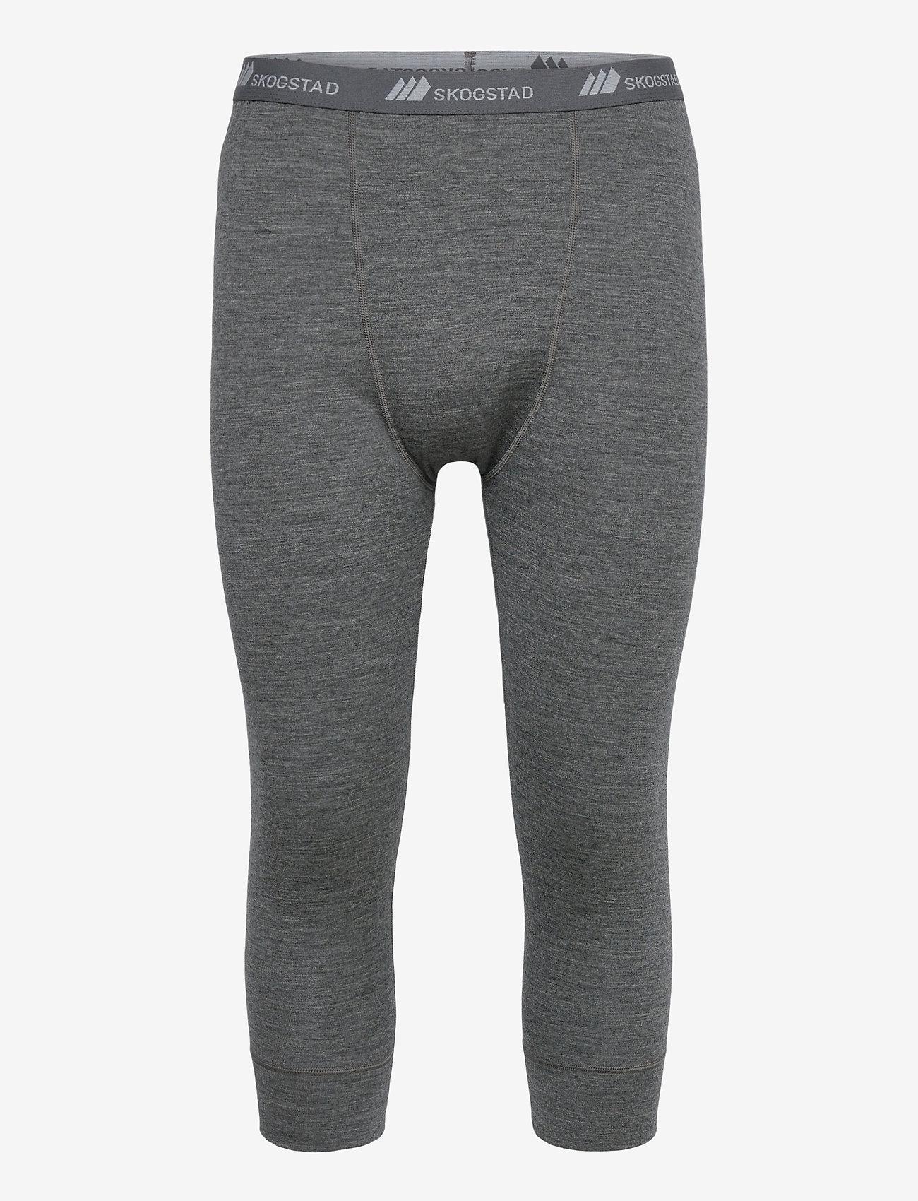 Skogstad - Andenes merino wool 3/4 longs - termo leggings - mid grey melange - 0