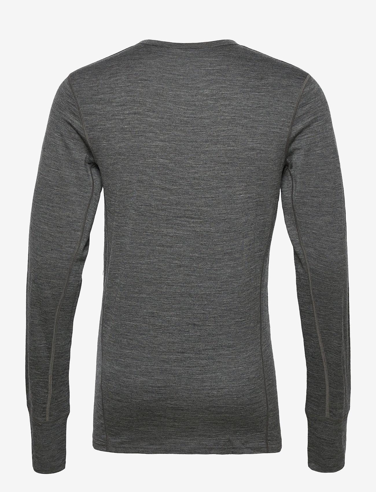 Skogstad - Leknes merino wool sweater - basic strik - mid grey melange - 1