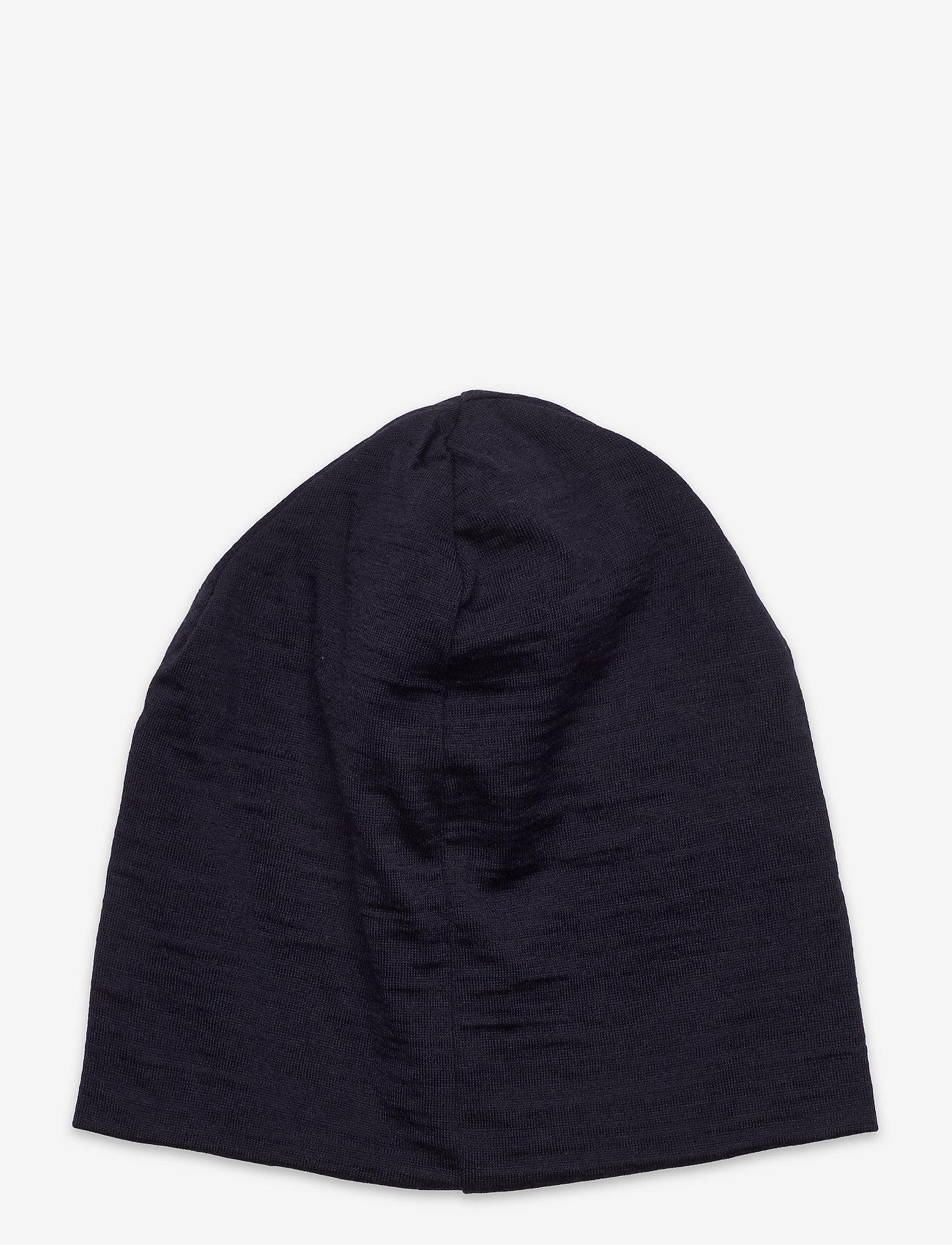 Skogstad - Aske merino wool hat - beanie - dark navy - 1