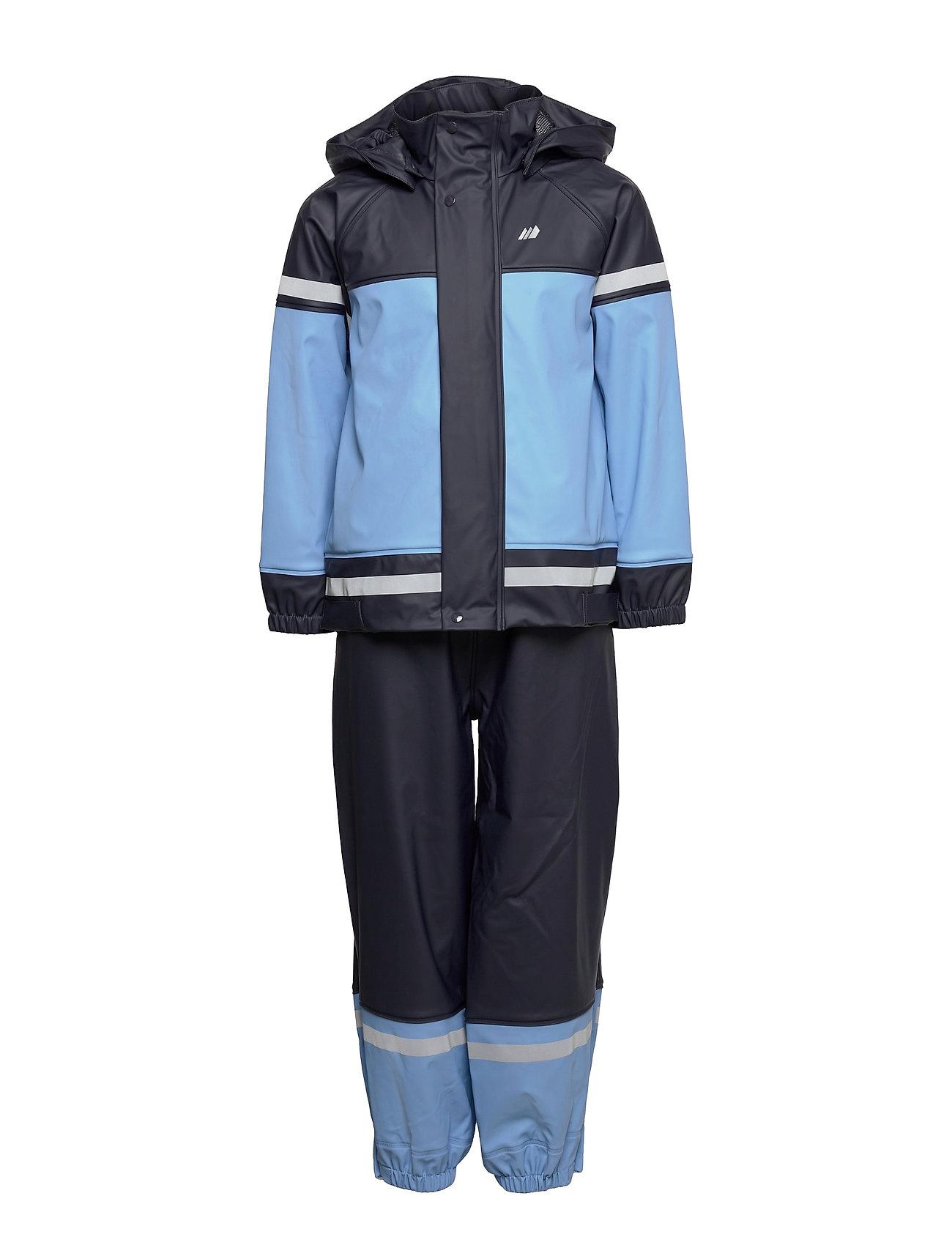 Ona Pu Rain Set Outerwear Rainwear Sets & Coveralls Blå Skogstad