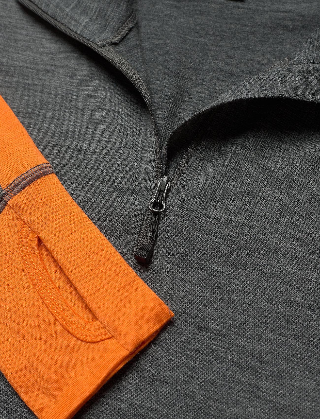 Skogstad Røstene merino wool half-zip - Innerlag JAFFA ORANGE - Menn Klær