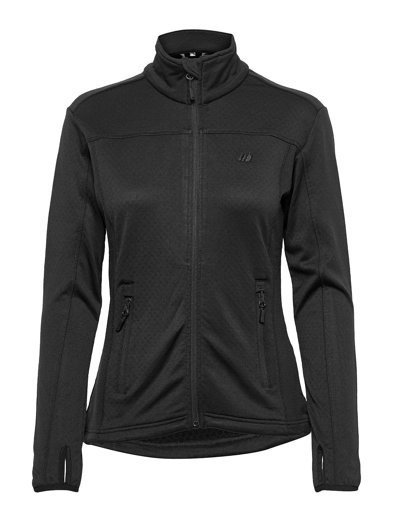RøD Technical Fleece Jacket Outerwear Sport Jackets Sort Skogstad