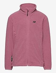 Skogstad - Stien fleece jacket - sweatshirts - heather rose - 0