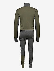 Skogstad - Merino wool one piece - base layer sets - mid grey melange - 1