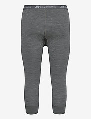 Skogstad - Andenes merino wool 3/4 longs - termo leggings - mid grey melange - 1