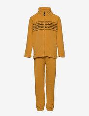 Skogstad - Fongen microfleece set - fleece sets - bright gold - 0