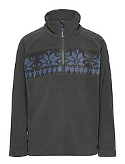 Bondalen Microfleece half-zip - DARK GREY