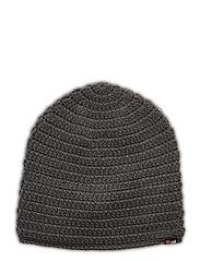 Fossvega crochet hat - DARK GREY