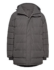 Nydalen long down jacket - NEW ANTRACITE