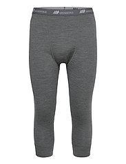 Andenes merino wool 3/4 longs - MID GREY MELANGE