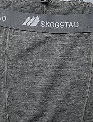 Skogstad - Andenes merino wool 3/4 longs - termo leggings - mid grey melange - 2