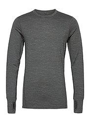 Leknes merino wool sweater - MID GREY MELANGE