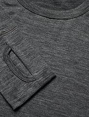 Skogstad - Leknes merino wool sweater - basic strik - mid grey melange - 2