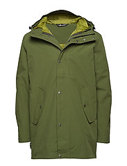 Fyrde 2-layer technical parka - CHIVE