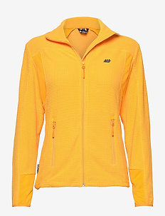 Røda fleece jacket - fleece midlayer - saffron