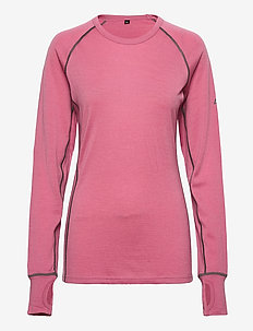 Nordstølen merino wool sweater - thermo ondershirts - heather rose
