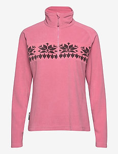 Hildastranda microfleece half-zip - mid layer jackets - heather rose