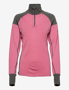 Jardalen merino wool half-zip - thermo ondershirts - heather rose