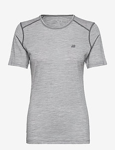 Dalsnibba merino wool t-shirt - thermo ondershirts - grey melange