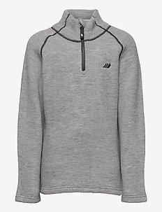 Midtfjor wool half zip - ull-klær - casio grey