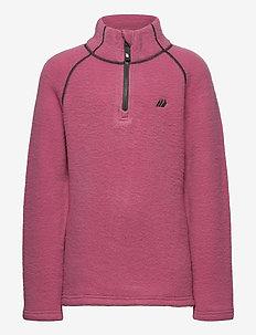 Midtfjor wool half zip - ull-klær - heather rose