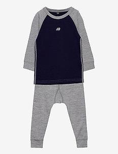 Loppa merino wool set - undertøysett - prime navy