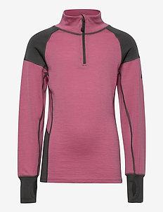 Videseter Merino wool half-zip - langermede t-skjorter - heather rose