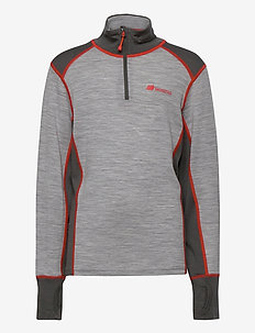 Jostedal Merino wool half-zip - langermede t-skjorter - casio grey