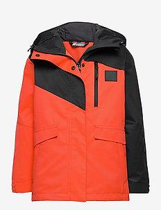 Fure 2-layer technical jacket - termojakke - cherry tomato