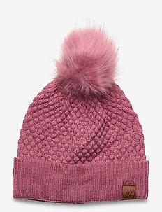 Kongsberg knitted hat - hoed - heather rose