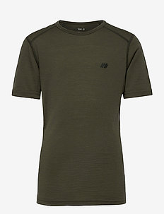 Lihesten merino wool t-shirt - kortermede - four leaf