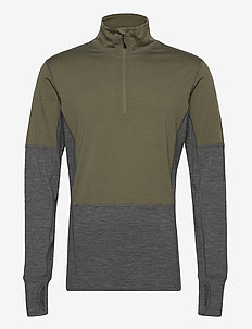 Røstene merino wool half-zip - base layer tops - four leaf