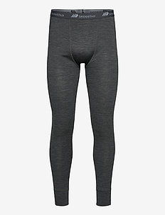 Røstene merino wool longs - base layer bottoms - mid grey melange