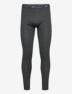 Røstene merino wool longs - thermo onderbroeken - mid grey melange