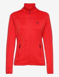 Rød Technical fleece jacket - wandel- en regenjassen - high risk red