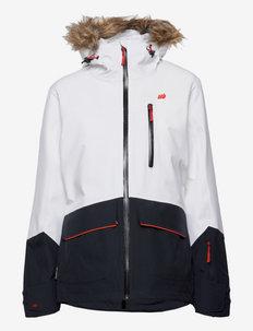 Vassetdalen 2-layer technical jacket - kurtki turystyczne - white