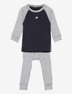 Loppa merino wool set - thermo ondergoedsets - dark navy