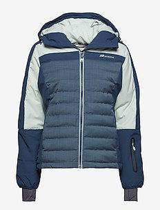 Milde down jacket - ulkoilu- & sadetakit - blue teal