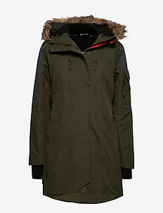 Sunnfjord 2-Layer Techincal Parkas - insulated jackets - dark green
