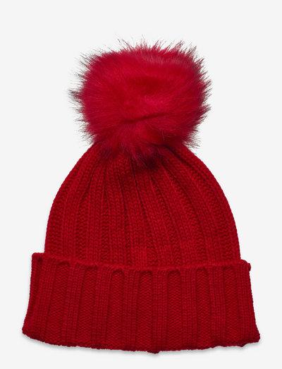 Trysil knitted hat - wintermutsen - high risk red