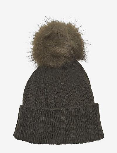 Trysil knitted hat - wintermutsen - ivy