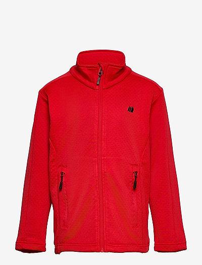 Ervadalen technical fleece jacket - geïsoleerde jassen - high risk red