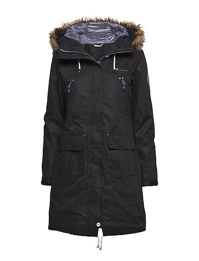 Sandnes 2-layer technical coat - BLACK