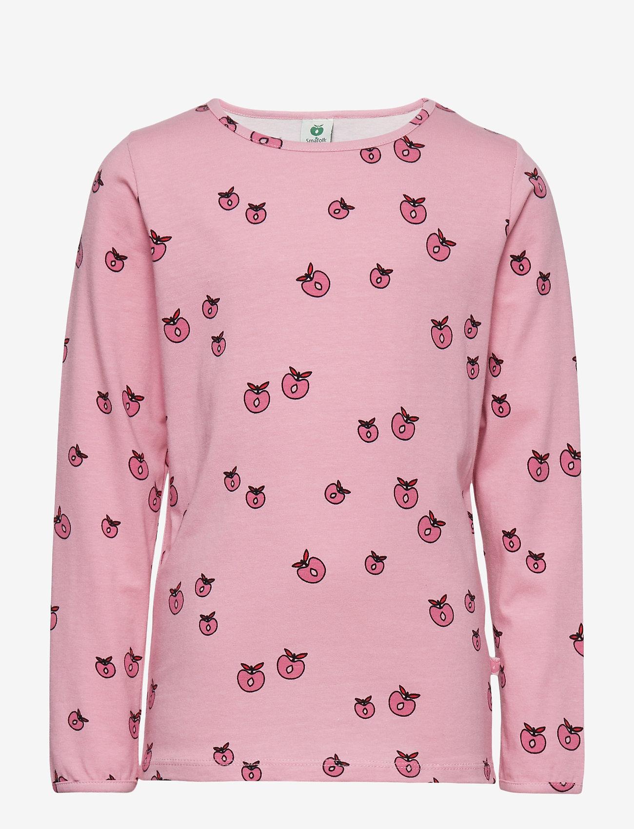 Småfolk - T-shirt LS. Apples. Originals. - lange mouwen - sea pink - 0